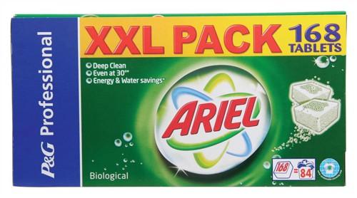 Ariel Biological Washing Tablets for Laundry 2 per Load Ref VPGAT [Pack 168]