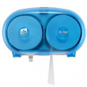 Lotus enSure Compact Dispenser Wall-mounted for Coreless Toilet Roll Lockable Blue Ref 5022250