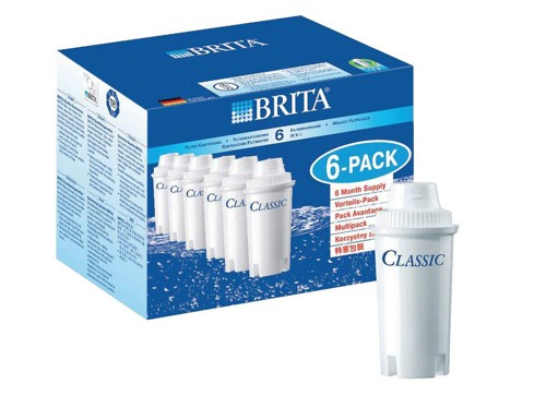 Brita Classic Refill Cartridge for Water Filter Ref 100406 [Pack 6]