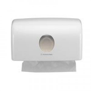 Aqua Folded Hand Towel Dispenser C Fold White Ref 6974