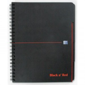 Black n Red Project Book Polypropylene Cover Wirebound 90gsm 200pp A4 Plus Ref 100080730 [Pack 3]