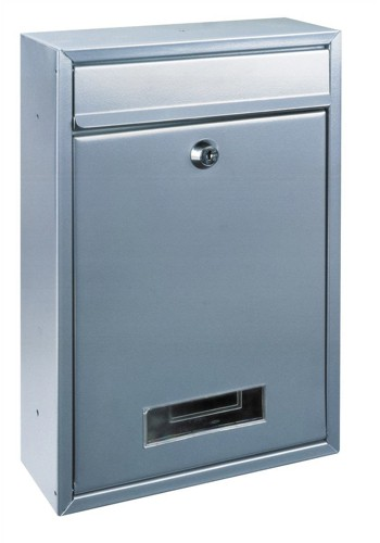 Rottner Tarvis Steel Mail Box 175x30mm Opening W215xD90xH320mm Silver Ref T02943