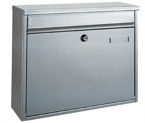 Rottner Hochhaus II Mail Box 325x35mm Opening W360xD115xH315mm Silver Ref T02893