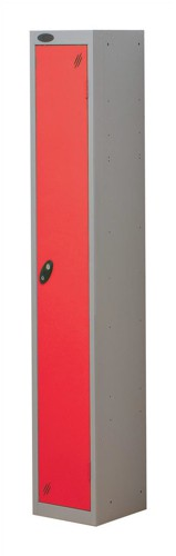 Trexus Plus 1 Door Locker Nest of 1 ACTIVECOAT W305xD305xH1780mm Silver Red Ref