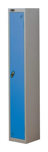 Trexus Plus 1 Door Locker Nest of 1 Extra Depth ACTIVECOAT W305xD460xH1780mm Silver Blue Ref