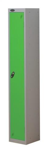 Trexus Plus 1 Door Locker Nest of 1 Extra Depth ACTIVECOAT W305xD460xH1780mm Silver Green Ref