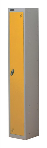 Trexus Plus 1 Door Locker Nest of 1 Extra Depth ACTIVECOAT W305xD460xH1780mm Silver Yellow Ref