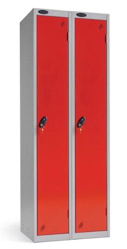 Trexus Plus 1 Door Locker Nest of 2 ACTIVECOAT W305xD305xH1780mm Silver Red Ref