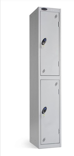 Trexus Plus 2 Door Locker Nest of 1 ACTIVECOAT W305xD305xH1780mm Silver Ref