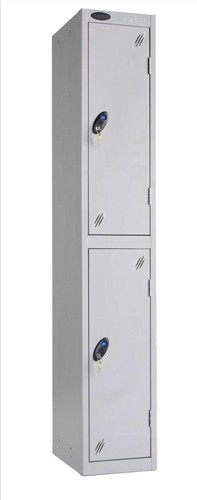 Trexus Plus 2 Door Locker Nest of 1 Extra Depth ACTIVECOAT W305xD460xH1780mm Silver Ref