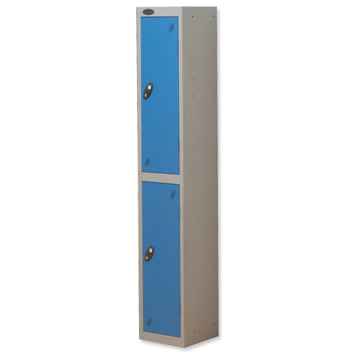 Trexus Plus 2 Door Locker Nest of 1 Extra Depth ACTIVECOAT W305xD460xH1780mm Silver Blue Ref