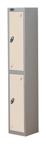 Trexus Plus 2 Door Locker Nest of 1 Extra Depth ACTIVECOAT W305xD460xH1780mm Silver White Ref