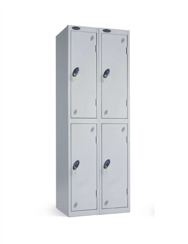 Trexus Plus 2 Door Locker Nest of 2 Extra Depth ACTIVECOAT W305xD460xH1780mm Silver Ref