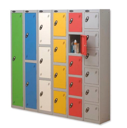 Trexus Plus 2 Door Locker Nest of 2 Extra Depth ACTIVECOAT W305xD460xH1780mm Silver Green Ref