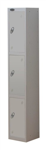 Trexus Plus 3 Door Locker Nest of 1 Extra Depth ACTIVECOAT W305xD460xH1780mm Silver Ref
