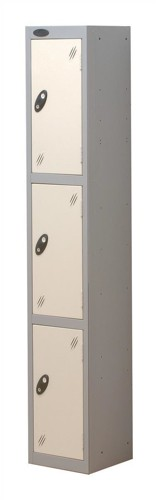 Trexus Plus 3 Door Locker Nest of 1 Extra Depth ACTIVECOAT W305xD460xH1780mm Silver White Ref