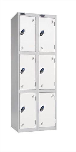 Trexus Plus 3 Door Locker Nest of 2 ACTIVECOAT W305xD305xH1780mm Silver White Ref