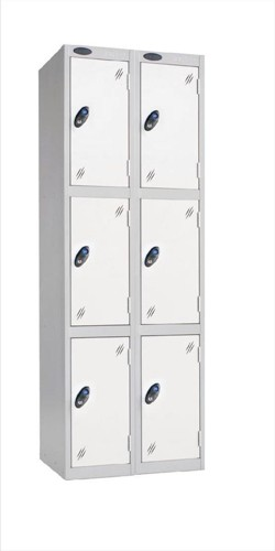 Trexus Plus 3 Door Locker Nest of 2 Extra Depth ACTIVECOAT W305xD460xH1780mm Silver White Ref