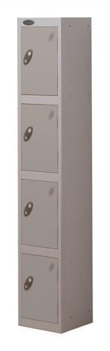 Trexus Plus 4 Door Locker Nest of 1 Extra Depth ACTIVECOAT W305xD460xH1780mm Silver Ref