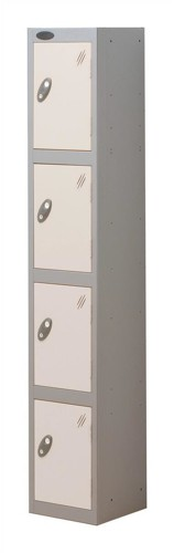 Trexus Plus 4 Door Locker Nest of 1 Extra Depth ACTIVECOAT W305xD460xH1780mm Silver White Ref