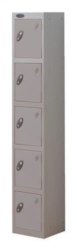 Trexus Plus 5 Door Locker Nest of 1 ACTIVECOAT W305xD305xH1780mm Silver Ref