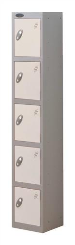 Trexus Plus 5 Door Locker Nest of 1 ACTIVECOAT W305xD305xH1780mm Silver White Ref