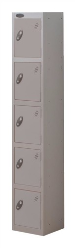 Trexus Plus 5 Door Locker Nest of 1 Extra Depth ACTIVECOAT W305xD460xH1780mm Silver Ref