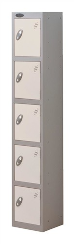 Trexus Plus 5 Door Locker Nest of 1 Extra Depth ACTIVECOAT W305xD460xH1780mm Silver White Ref
