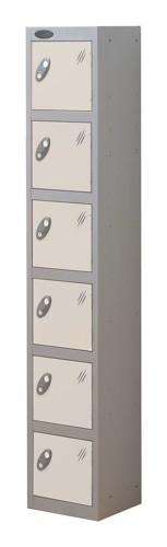 Trexus Plus 6 Door Locker Nest of 1 ACTIVECOAT W305xD305xH1780mm Silver White Ref