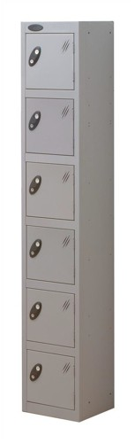 Trexus Plus 6 Door Locker Nest of 1 Extra Depth ACTIVECOAT W305xD460xH1780mm Silver Ref