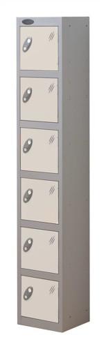 Trexus Plus 6 Door Locker Nest of 1 Extra Depth ACTIVECOAT W305xD460xH1780mm Silver White Ref