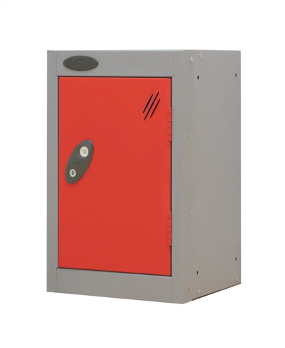 Trexus Plus Nesting Quarto Locker ACTIVECOAT 305x305x480mm Silver Red Ref