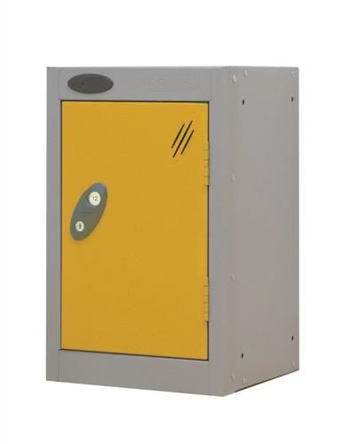 Trexus Plus Nesting Quarto Locker ACTIVECOAT 305x305x480mm Silver Yellow Ref