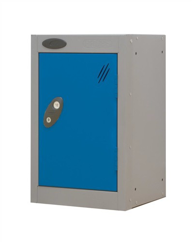 Trexus Plus Nesting Quarto Locker Extra Depth ACTIVECOAT 305x460x480mm Silver Blue Ref