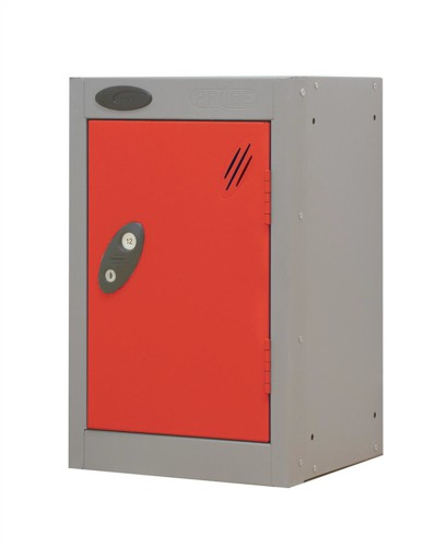 Trexus Plus Nesting Quarto Locker Extra Depth ACTIVECOAT 305x460x480mm Silver Red Ref