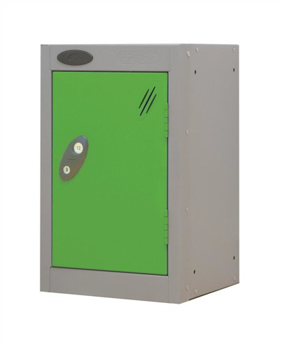 Trexus Plus Nesting Quarto Locker Extra Depth ACTIVECOAT 305x460x480mm Silver Green Ref