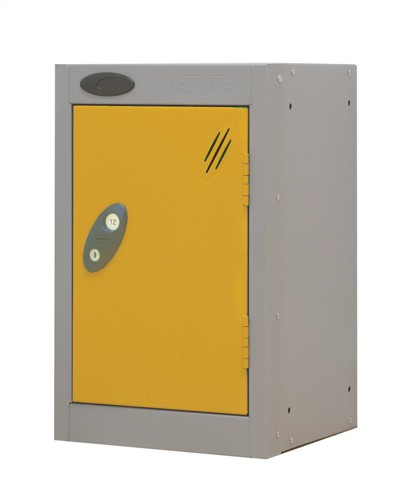 Trexus Plus Nesting Quarto Locker Extra Depth ACTIVECOAT 305x460x480mm Silver Yellow Ref