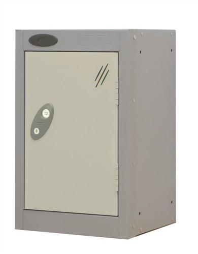 Trexus Plus Nesting Quarto Locker Extra Depth ACTIVECOAT 305x460x480mm Silver White Ref