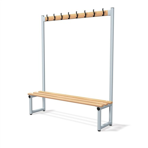 Trexus Single Side Bench with Hooks 1500x350mm Ref