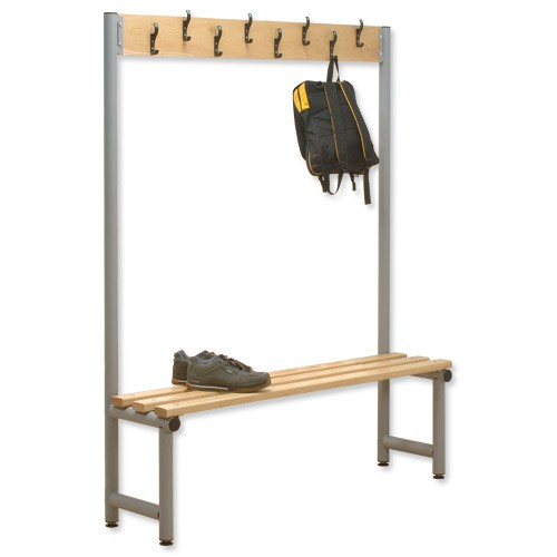 Trexus Single Side Bench with Hooks 2000x350 Ref