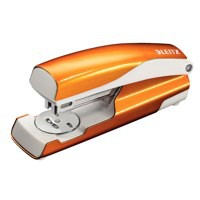 Leitz 5502 Nexxt Metal Stapler Wow Orange Metallic 30 Sheets