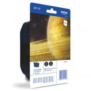 Brother Inkjet Cartridge Page Life 2x450pp Black Ref LC1100BKBP2 [Pack 2]