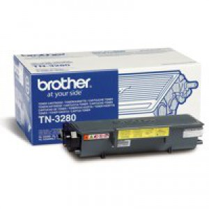 Brother Laser Toner Cartridge High Yield Page Life 8000pp Black Ref TN3280