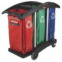 Newell Trip Capacity Recycling Cart Bag Red/Green/Blue 9T93-01