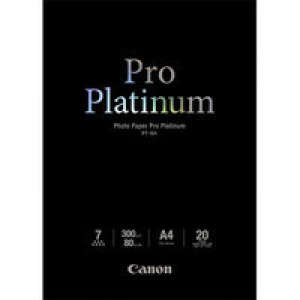 Canon PT-101 A4 Photo Paper Platinum Pro Pack of 20 Sheets 2768B016