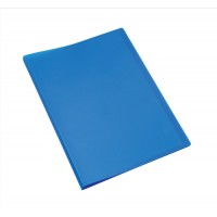 Image for 5 Star Display Book Soft Cover Lightweight Polypropylene 20 Pockets A4 Blue
