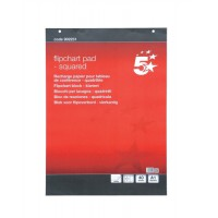 Image for 5 Star Flipchart Pad Perforated 40 Sheets A1 Feint 25mm Squared [Pack 5]