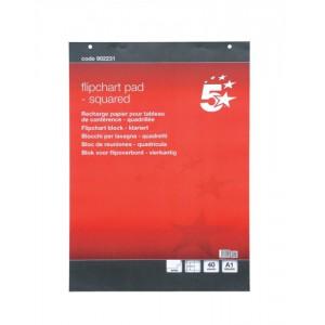 5 Star Squared Flipchart Pad 40Sht