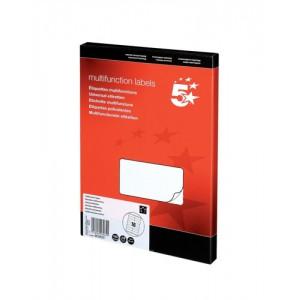 5 Star Labels Laser Copier and Inkjet 105x35mm 16 per Sheet [1600 Labels]