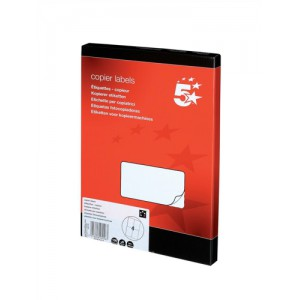 5 Star Labels Copier 4 per Sheet 105x149mm White [400 Labels]